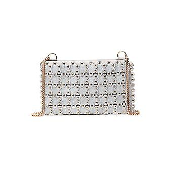 Red Valentino Tq2p0a22lfb15j Women's Silver Leather Shoulder Bag