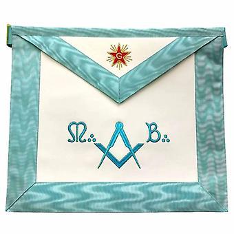 Master mason french rite / modern rite star lambskin apron - sky blue