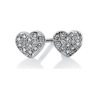 Orecchini perno diamante orecchini borchie - 14K 585/ - oro bianco - 0.13 ct. - 2B534W4-1