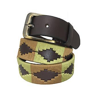 Carlos diaz unisex  brown leather  polo belt cdupb124