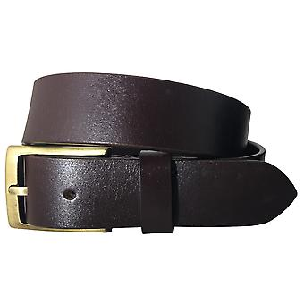 Sync with style mens brown full leather grain casual formal belt swslb2