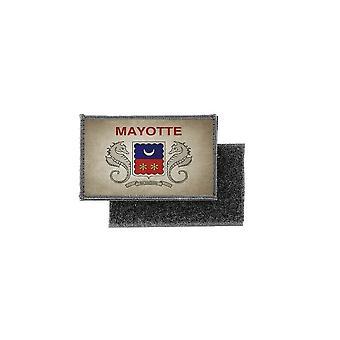 Patch ecusson prints vintage flag badge mayotte