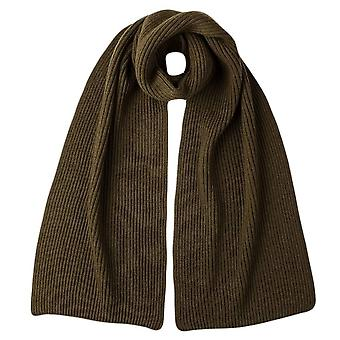 Johnstons of Elgin Cashmere Ribbed Scarf - Dark Olive