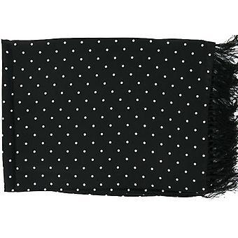 Michelsons av London Polka Dot bred Silk Scarf - svart