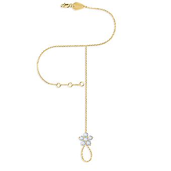 Hand Chain Fairy Flower 18K Gold and Diamonds - Yellow Gold