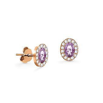 Cercei Princess 18K aur și diamante cu Ruby | Smarald | Safir