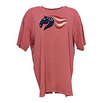 Amadora Sport Women's Top Crewneck Camiseta Mauve Pink