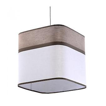 Latte Pendant Lamp Steel / Textile Brown / White 1 Bulb