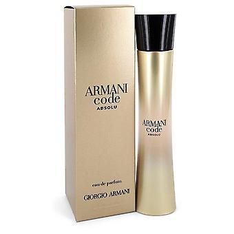 Armani kode absolu eau de parfum spray av giorgio armani 550675 75 ml