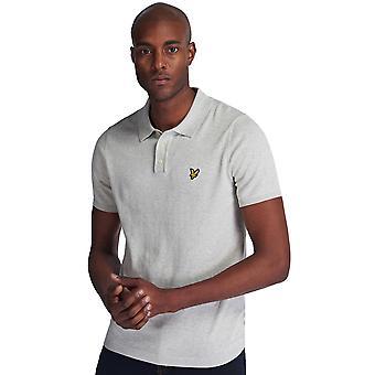Lyle & Scott Herren Kurzarm klassische gestrickte Polo Shirt