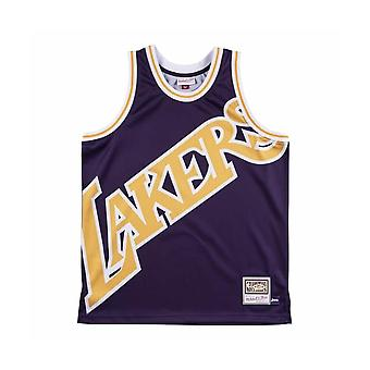 Mitchell & Ness Nba Los Angeles Lakers Big Face Purple Jersey