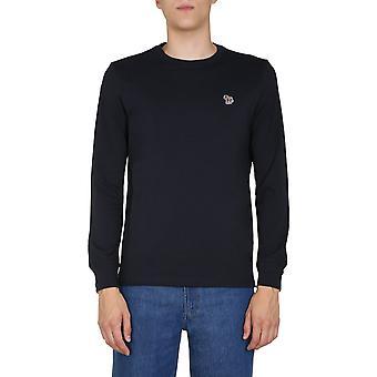 Ps By Paul Smith M2r828razebra49 Men's Blue Cotton Sweater