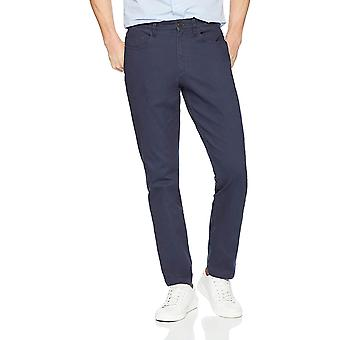 Goodthreads Men's Slim-Fit 5-Pocket Chino Pant, Navy, 35W x 29L