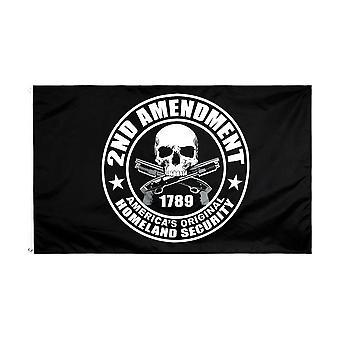 90x150cm 2nd Amendment Gun 1789 Skull Flag