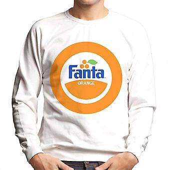 Camisola masculina de Fanta Orange 1980s retro Circle logo Men ' s