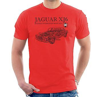 Haynes Owners Workshop Manual 0242 Jaguar XJ6 Black Men's T-Shirt
