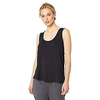 Marque - Daily Ritual Women-apos;s Supersoft Terry Crewneck Tank, Navy , Large