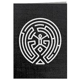 Westworld Maze White Greeting Card