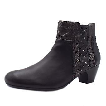 ريكر 70571-00 أزياء أحذية الكاحل باللون الأسود