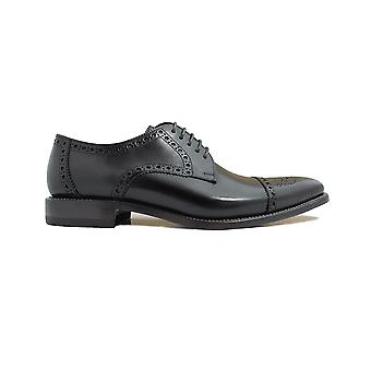 Loake Foley Black Calf Leather Mens Derby Shoes