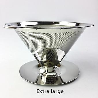 Reusable Stainless Steel Coffee Filter Holder -  Drip Coffee Baskets