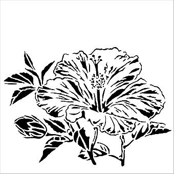 The Crafter's Workshop Hibiscus 6x6 Inch Stencil