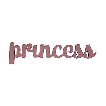 Rebecca huonekalut Targa prinsessa vaaleanpunainen lause puu kirjallinen huone tytöt 10x40x1.5