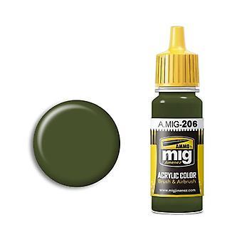 Ammo by Mig Acrylic Paint - A.MIG-0206 FS 34079 (BS 641) RAF Dark Green (17ml)