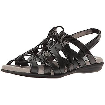 LifeStride Womens Behave Open Toe Casual Slingback Sandals