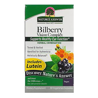 Nature's Answer, Bilberry Vision Complex, 60 Vegetarische Capsules