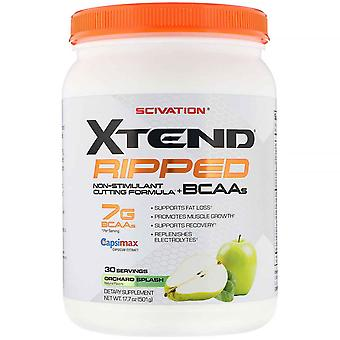Xtend, Xtend Ripped, 7G BCAAs, Orchard Splash, 17.7 oz (501 g)