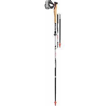 Leki MCT 12 Vario Carbon TA Cross Trail Poles (Black/White/Red) (Pair)
