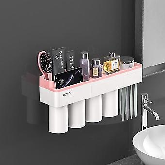 Magnetic Adsorption Toothbrush Holder - Wall Mount Bathroom Accessories