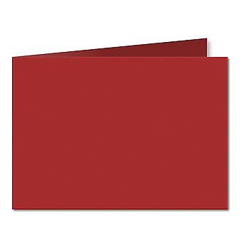 Chilli Red. 148mm x 420mm. A5 (Short Edge). 235gsm Folded Card Blank.