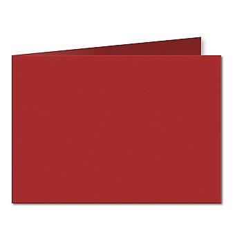 Chili röd. 148mm x 420mm. A5 (kortsida). 235gsm Vikta Kort Tomt.