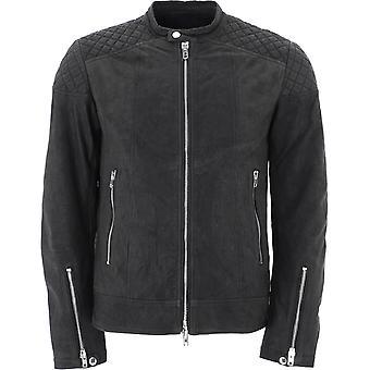 S.w.o.r.d 6.6.44 5005blushblack Men-apos;s Black Leather Outerwear Jacket