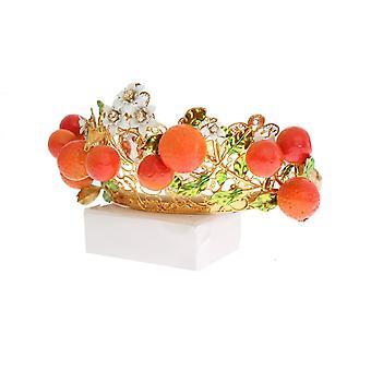 Flerfarget messing krystall Sicilia oransje Tiara