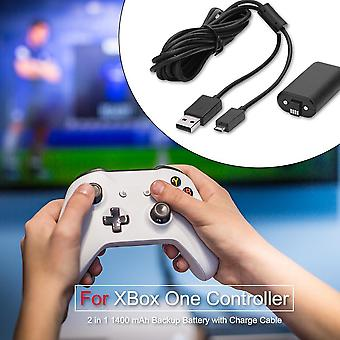 1400mah Battery Rechargeable Backup Battery Pack And Usb Cable For Xbox One Gamepad Overcharge Protection And Safety Circuit