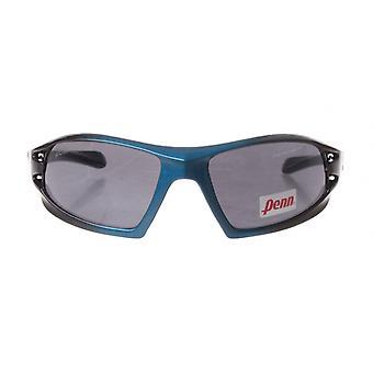 sportzonnebril unisex blauw/zwart met grijze lens