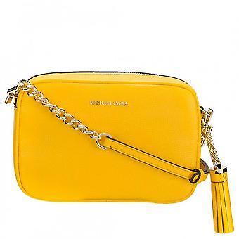 MICHAEL Michael Kors Ginny Leather Crossbody Bag Sunflower