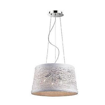 Ideel Lux Kurv - 3 lys rund loft vedhæng creme, E27