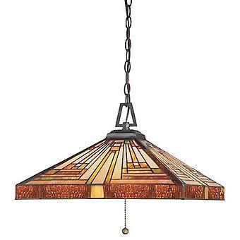 3 Ljus Tiffany Tak hänge Vintage Brons, E27