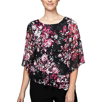 Alex Evenings | Floral-Print Tiered Top