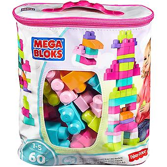 Mega Bloks 60 Piece Big Building Bag Pink