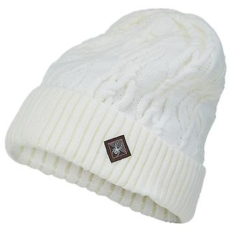 Spyder CABLE KNIT Dames Brei Winter Ski Hat Wit