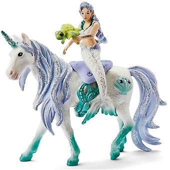 Schleich mermaid with sea unicorn Bayala collectible toy