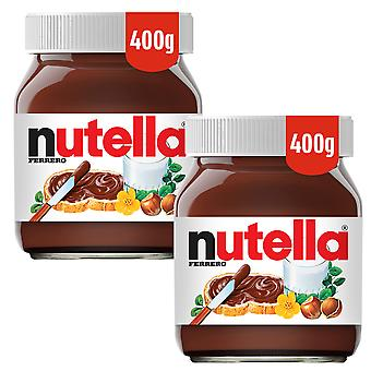 2 x 4000g Nutella Hazelnoot Chocolate Spread Breakfast Lunch Sandwich Vegetarisch
