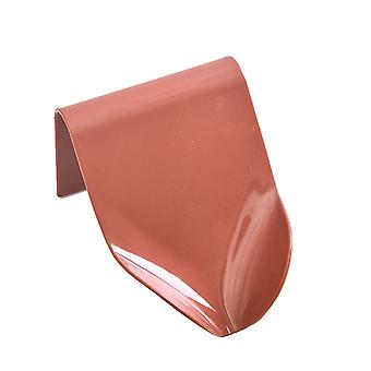 Soap Holder Wall Mounted Soap Dish with Suction Cup Dark Red