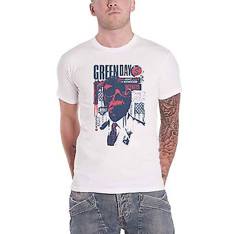 Green Day T Shirt Patriot Witness Band Logo new Official Mens White