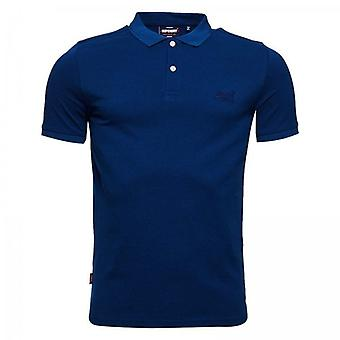 Superdry Classic Micro Pique S/S Polo Blu J6P